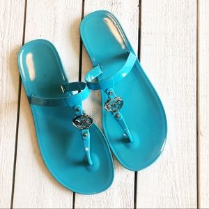 Michael Kors Jelly Rubber Flip Flops